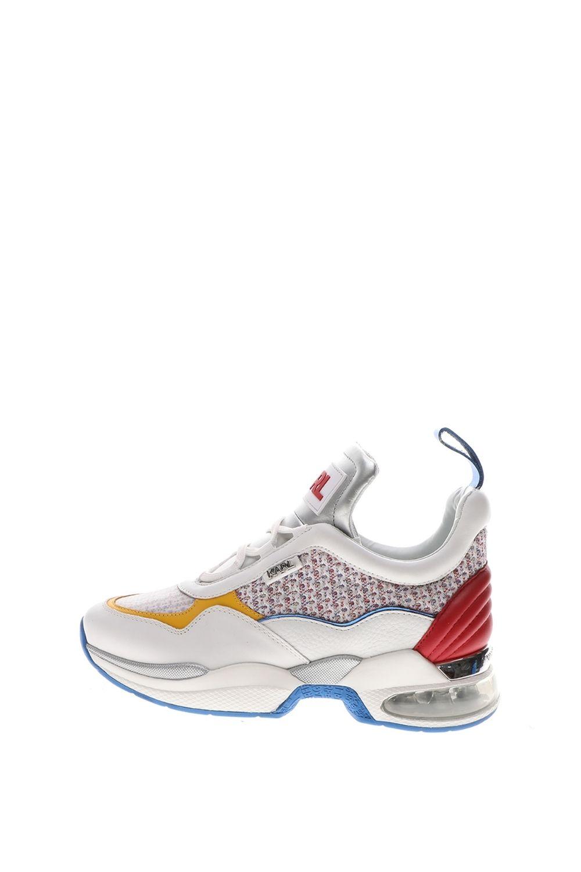KARL LAGERFELD – Γυναικεία sneakers KARL LAGERFELD Lazare Mid II λευκά μπλε