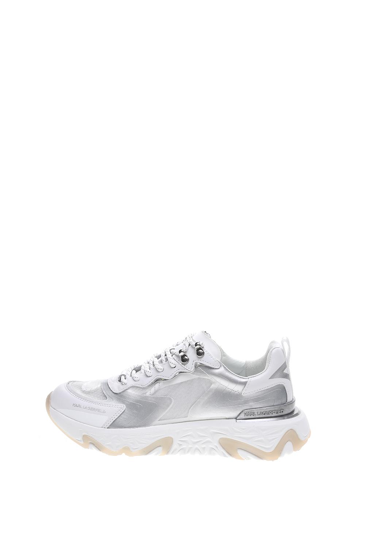 KARL LAGERFELD – Γυνακεία sneakers KARL LAGERFELD Pyro Mix Lace λευκά ασημί