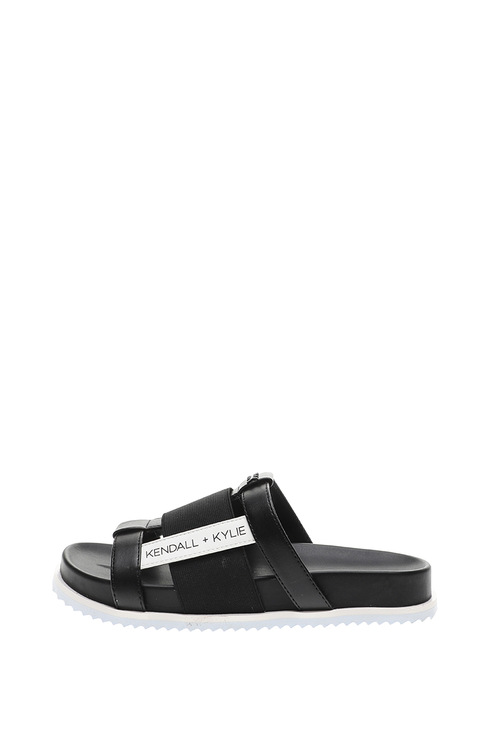 KENDALL + KYLIE – Γυναικεία slides KENDALL + KYLIE LUXIA μαύρα λευκά