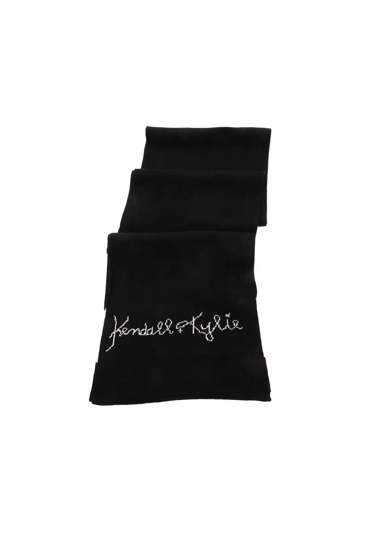 KENDALL+KYLIE BAGS - Γυναικείο κασκόλ KENDALL+KYLIE LOGO μαύρο