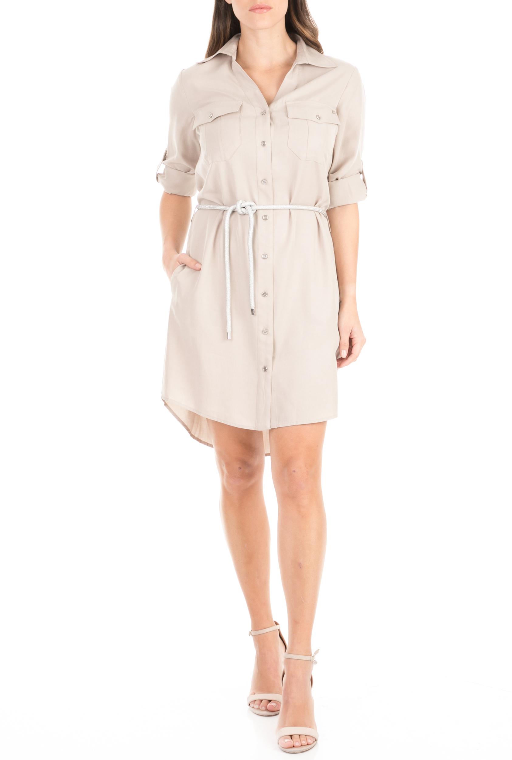 KOCCA - Γυναικείο φόρεμα KOCCA EGELIA μπεζ γυναικεία ρούχα φόρεματα μίνι
