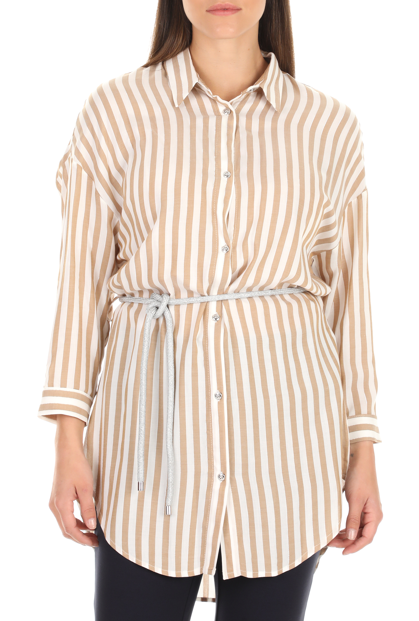 KOCCA - Γυναικείο πουκάμισο KOCCA NELLES ριγέ γυναικεία ρούχα πουκάμισα μακρυμάνικα