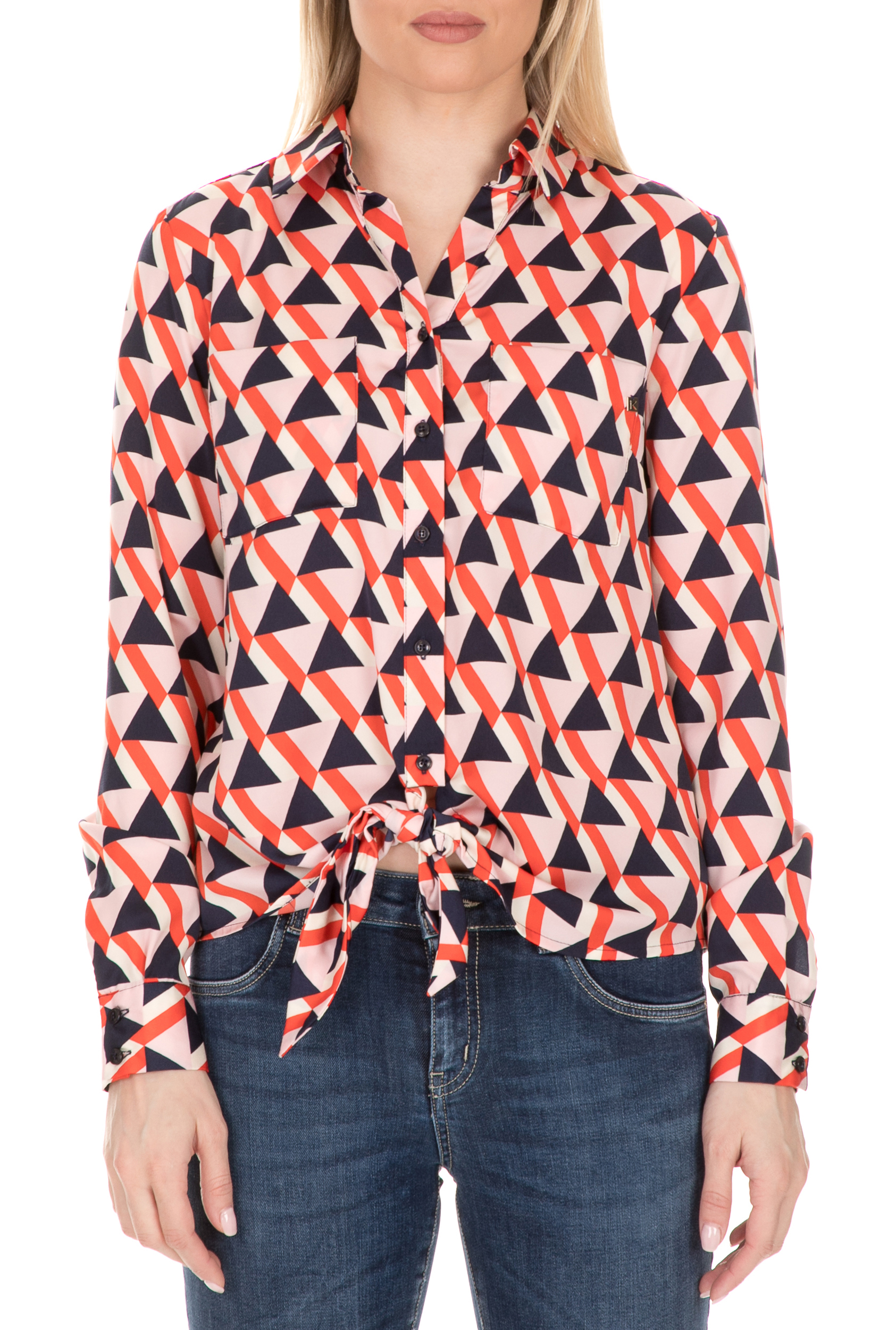 KOCCA - Γυναικείο πουκάμισο KOCCA VOLY με μοτίβο γυναικεία ρούχα πουκάμισα μακρυμάνικα