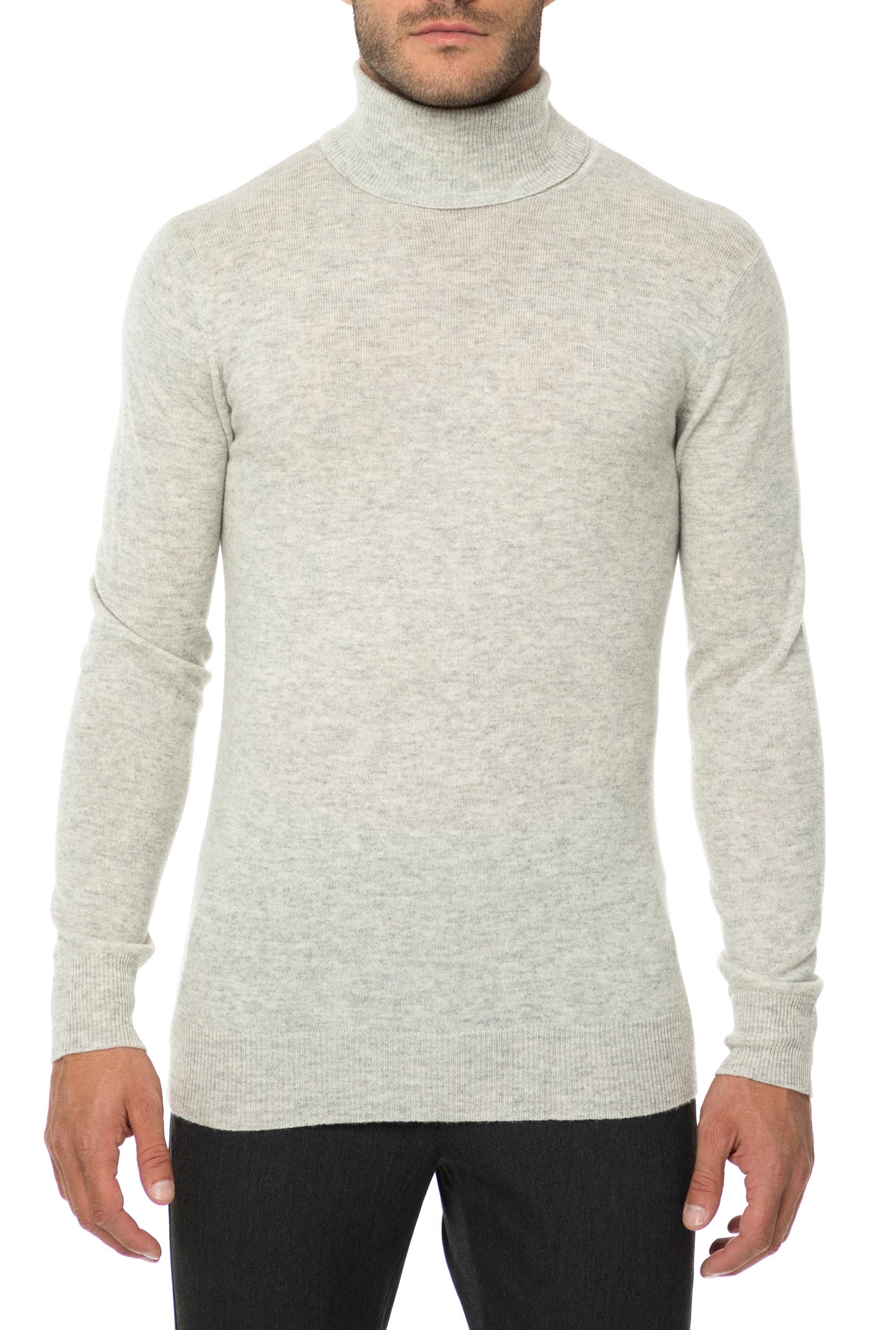 47b5ecc4ee74 LES DEUX - Ανδρική ζιβάγκο μπλούζα LES DEUX γκρι