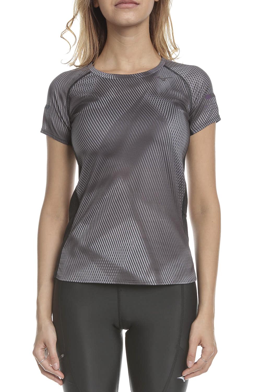 MIZUNO - Γυναικεία μπλούζα MIZUNO Aero Graphic Tee (W) μαύρη γκρι