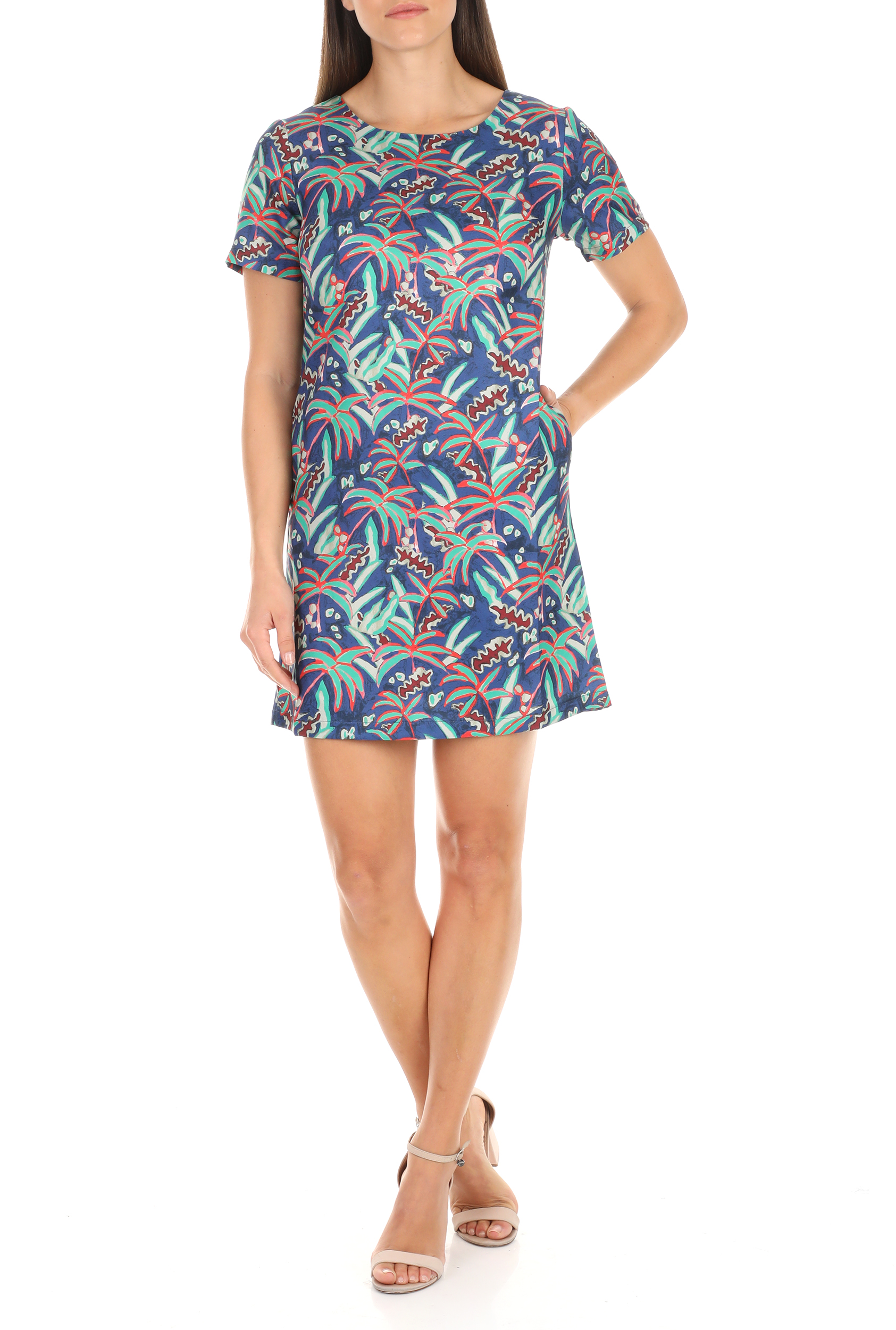 MOLLY BRACKEN - Γυναικείο μίνι φόρεμα MOLLY BRACKEN μπλε γυναικεία ρούχα φόρεματα μίνι