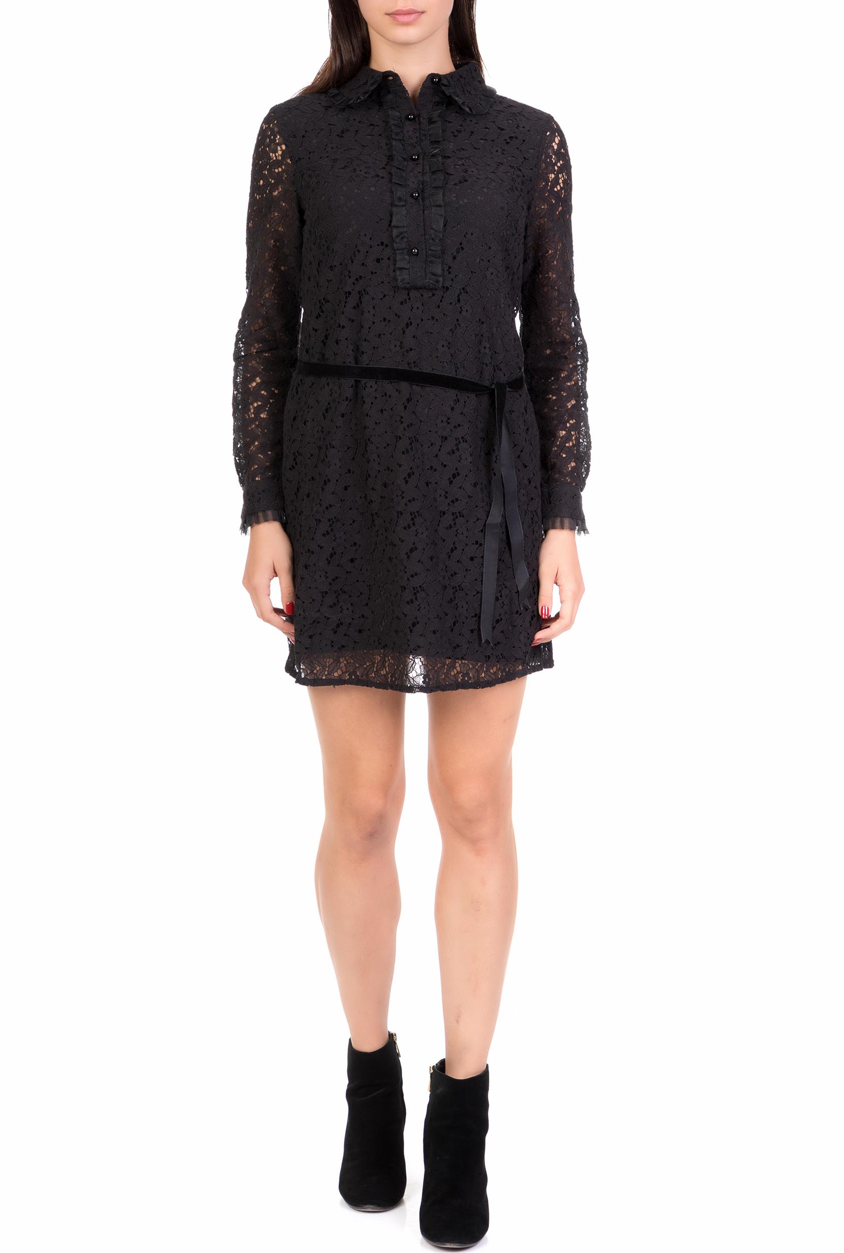MOLLY BRACKEN - Γυναικείο μίνι φόρεμα από δαντέλα MOLLY BRACKEN μαύρο γυναικεία ρούχα φόρεματα μίνι