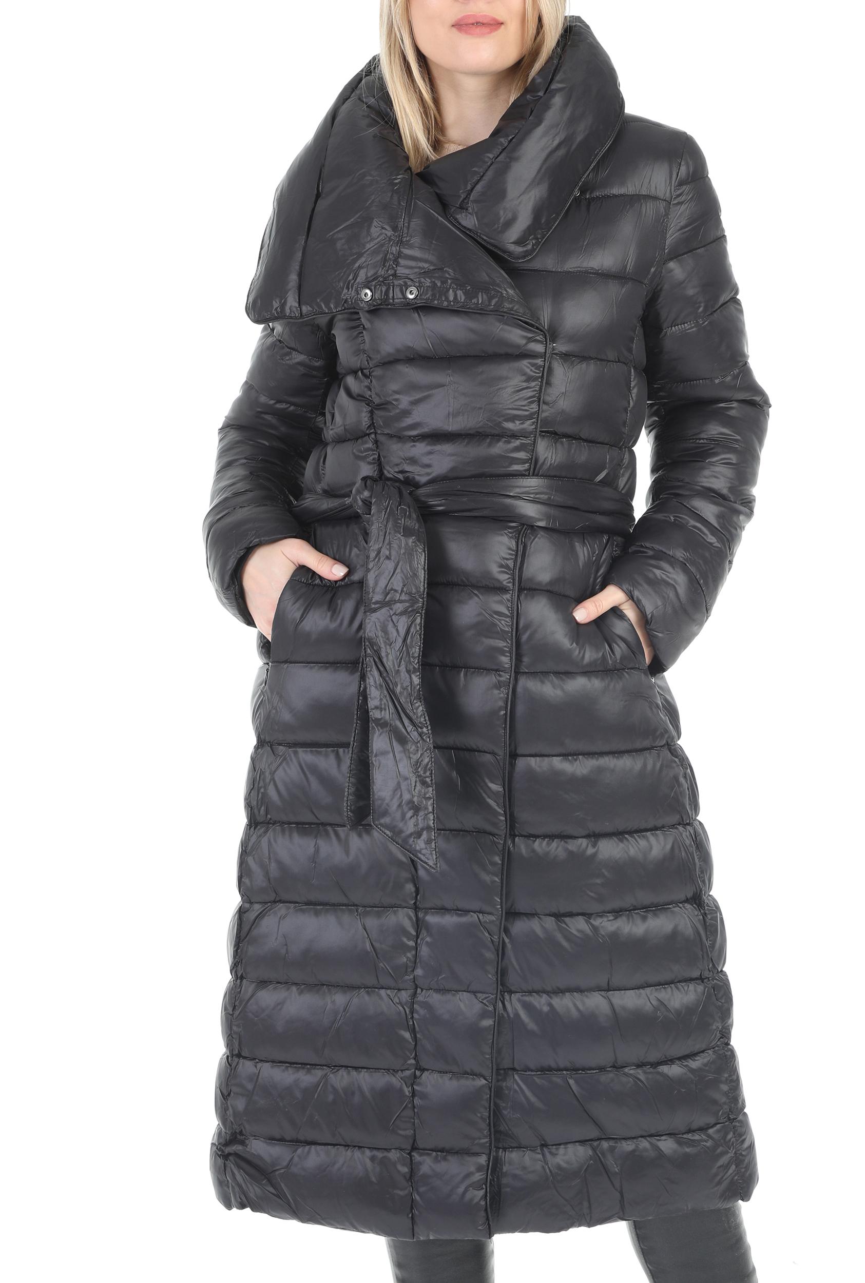 MOLLY BRACKEN - Γυναικείο μακρύ μπουφάν MOLLY BRACKEN μαύρο