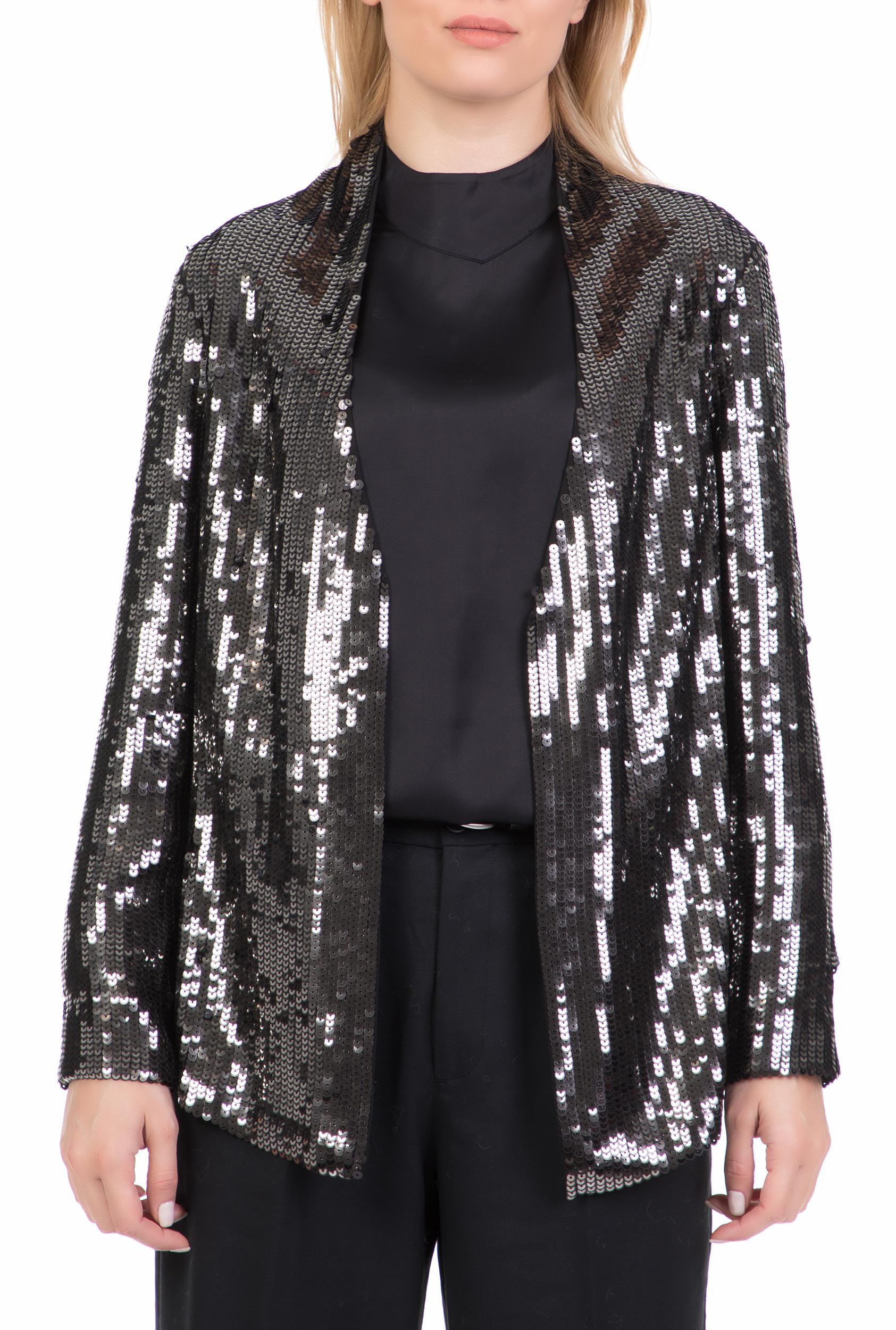 NENETTE - Γυναικείο σακάκι με παγιέτες GIACCA RICAMO PAILLETTES NENETTE ασημί γυναικεία ρούχα πανωφόρια σακάκια