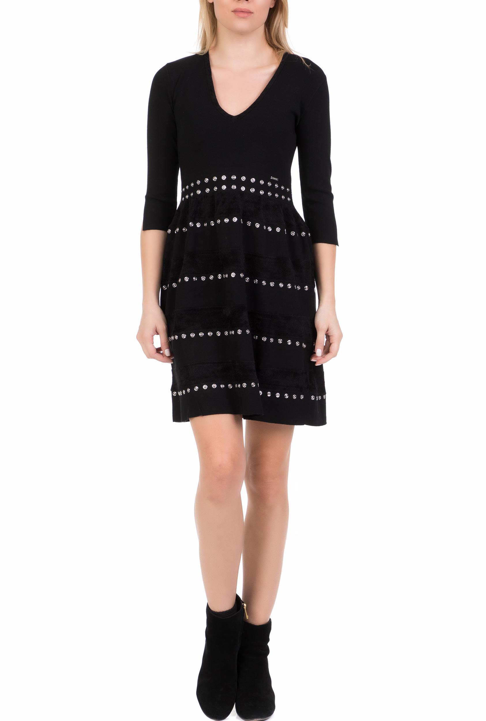 NENETTE - Γυναικείο μίνι φόρεμα NENETTE μαύρο γυναικεία ρούχα φόρεματα μίνι