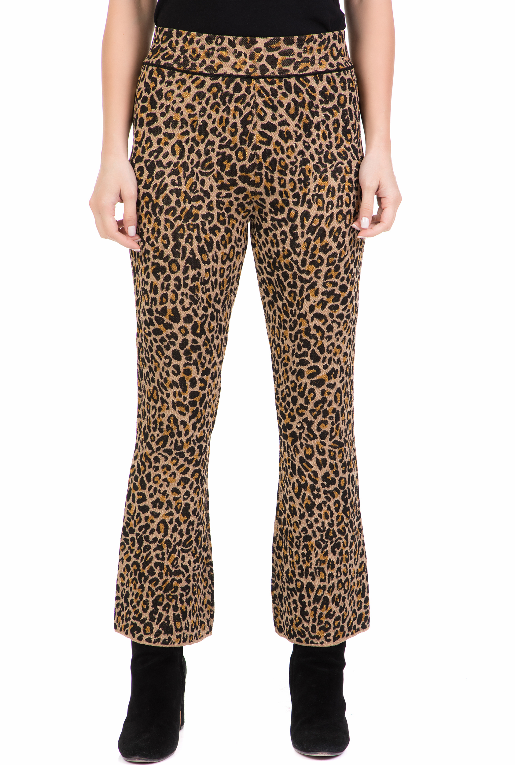 NENETTE - Γυναικείο παντελόνι NENETTE λεοπάρ