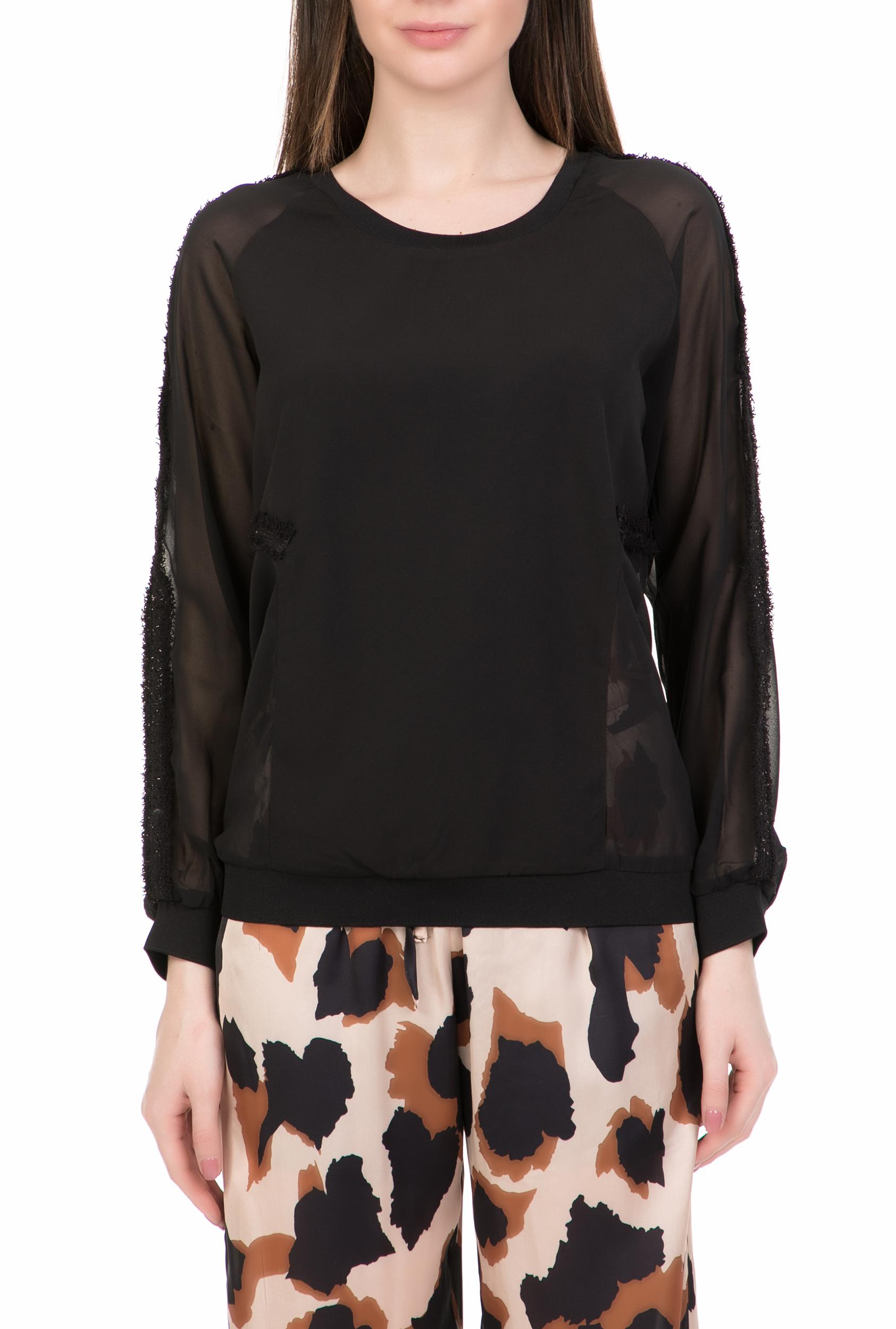 54e3794591a8 CollectiveOnline NU - Γυναικεία μακρυμάνικη μπλούζα NU μαύρη