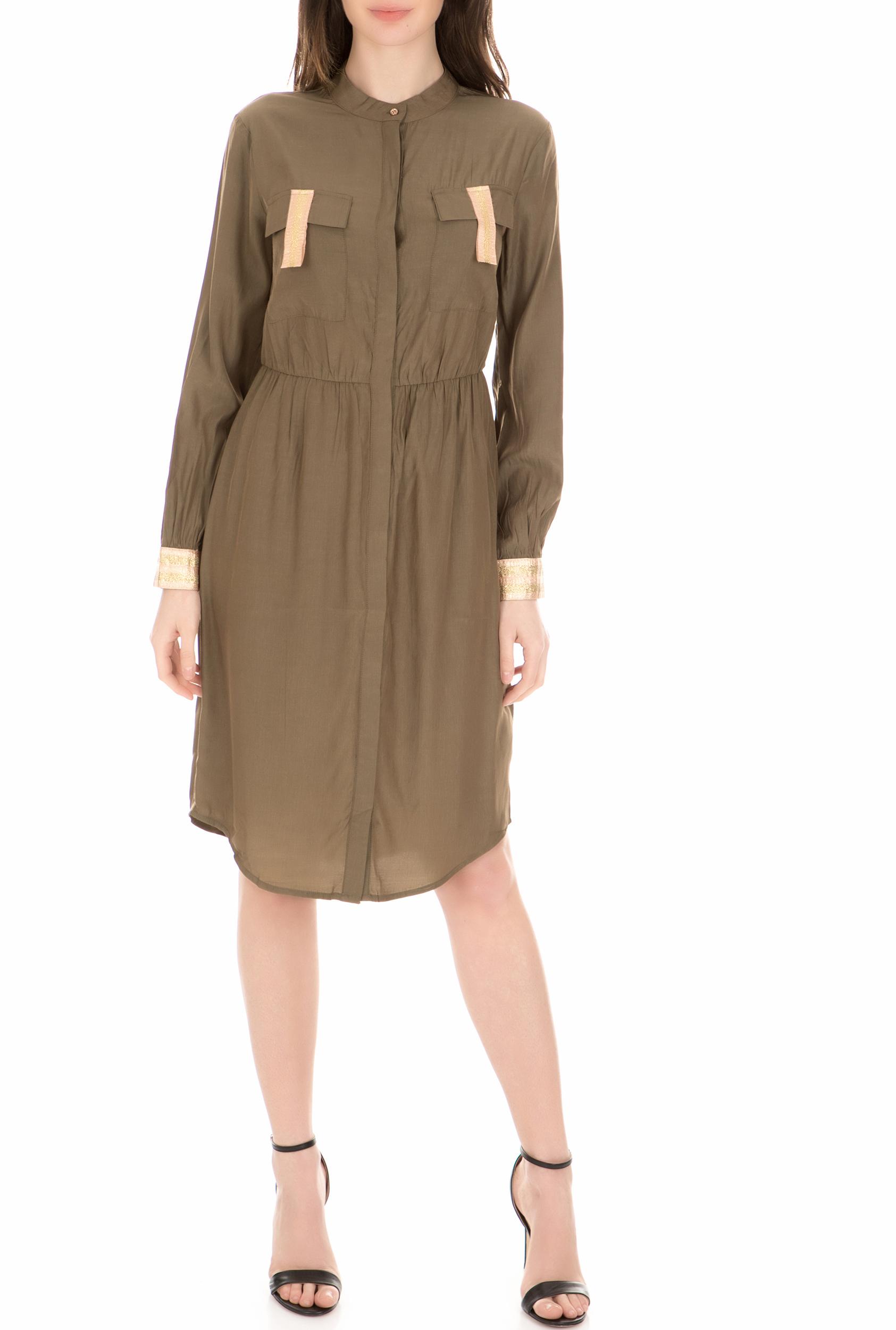 NU - Γυναικείο φόρεμα NU χακί