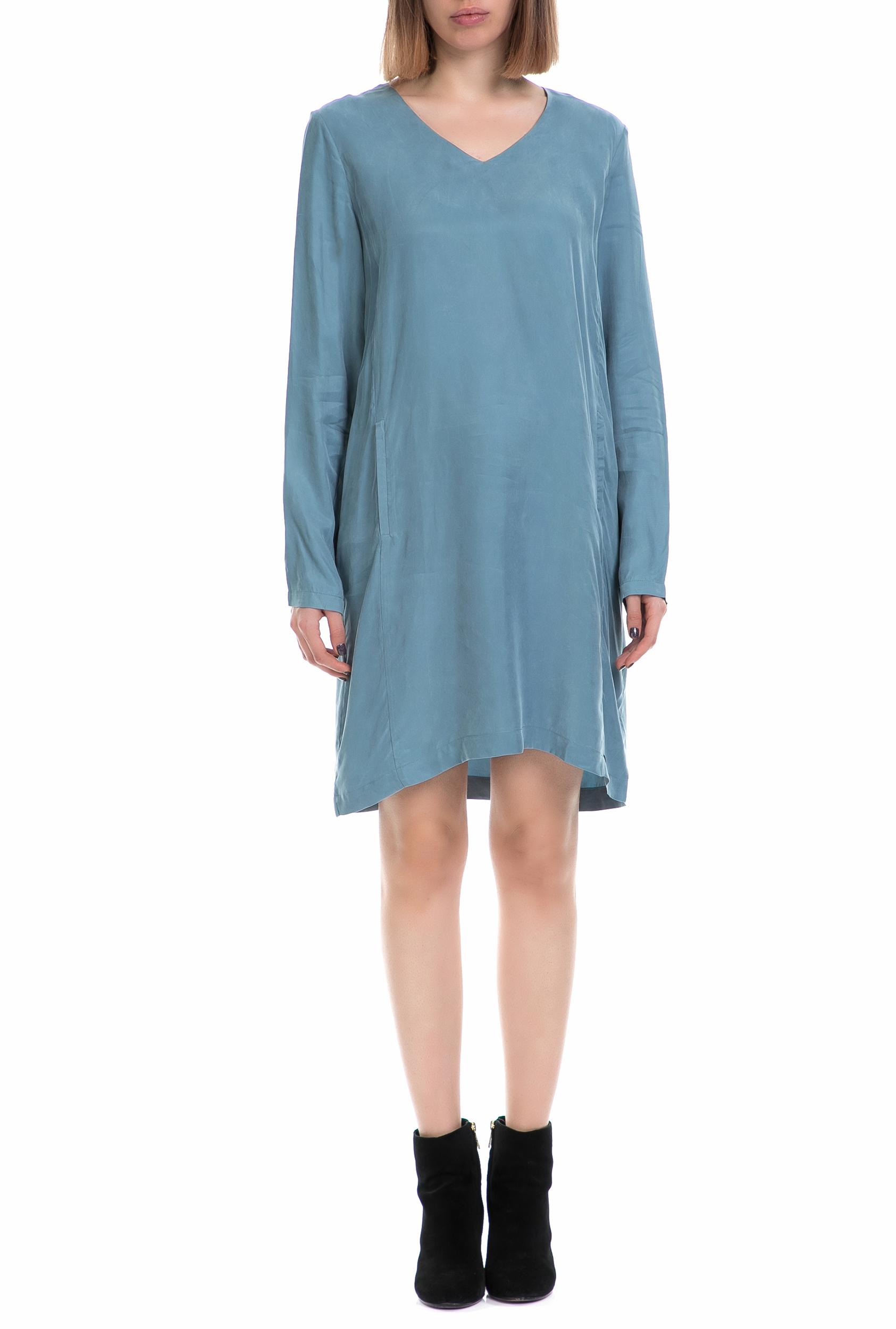 NUMPH - Γυναικείο φόρεμα NUMPH μπλε γυναικεία ρούχα φόρεματα μίνι