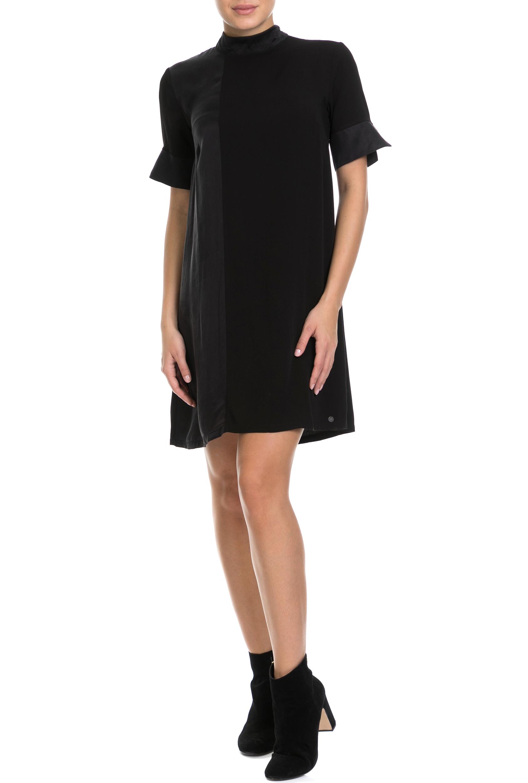 NUMPH - Γυναικείο φόρεμα NUMPH μαύρο γυναικεία ρούχα φόρεματα μίνι