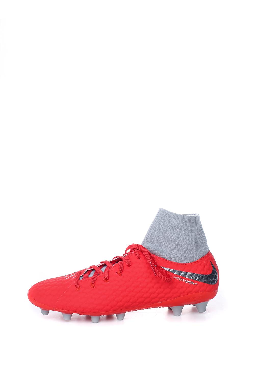NIKE – Ανδρικά παπούτσια ποδοσφαίρου HYPERVENOM 3 ACADEMY DF AG-PRO κόκκινα-γκρι