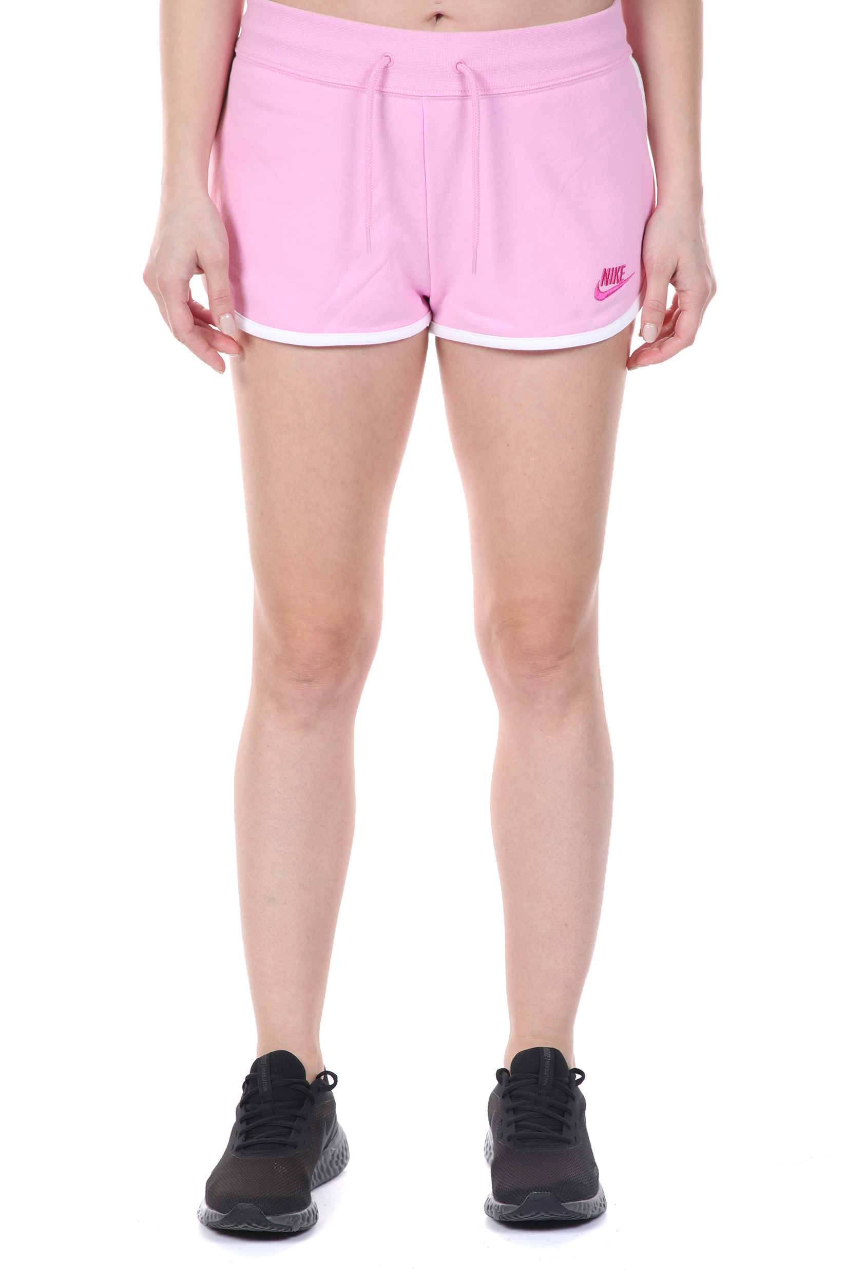 NIKE - Γυναικείο σορτς NSW HRTG SHORT FLC ροζ