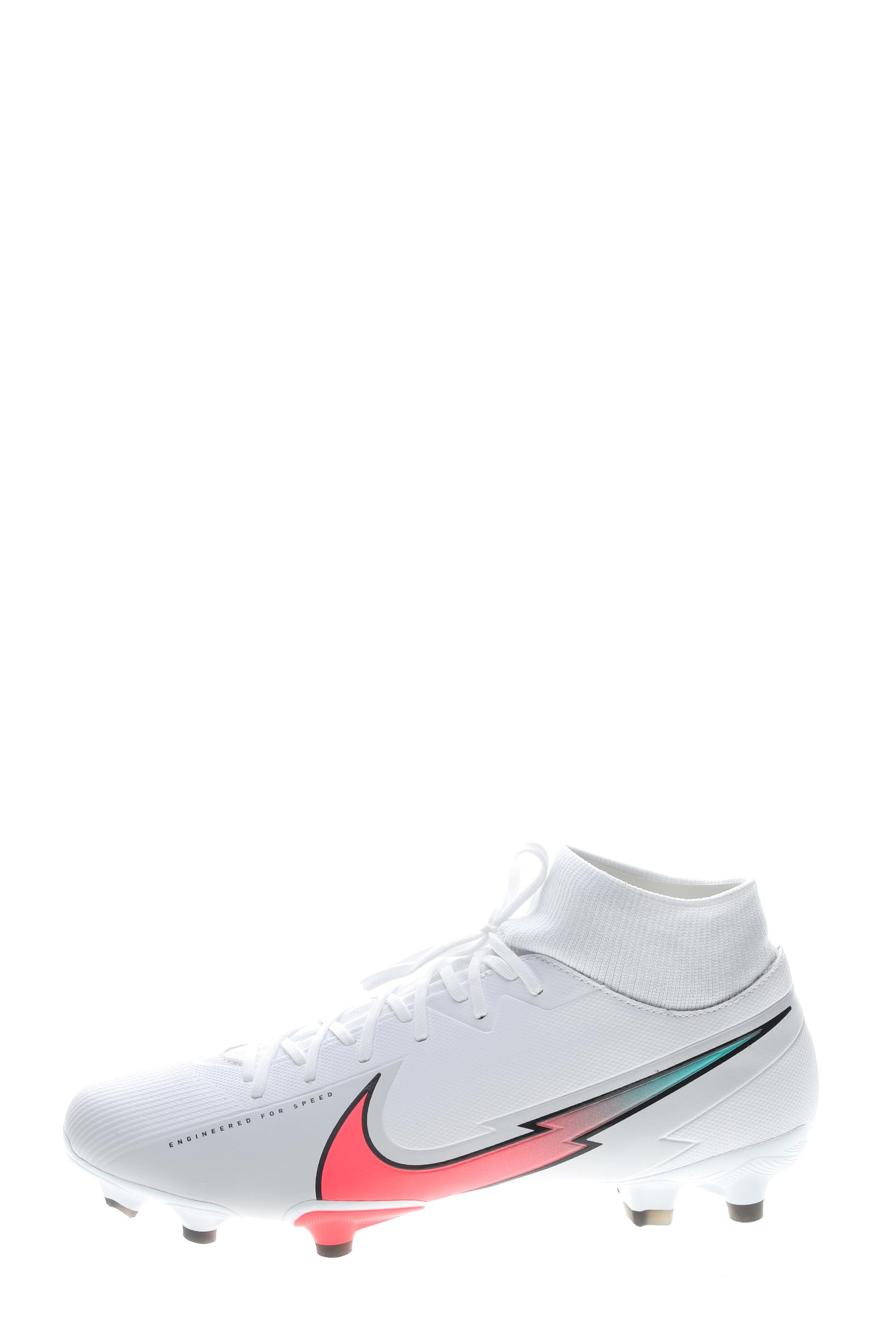 NIKE – Unisex παπούτσια football NIKE SUPERFLY 7 ACADEMY FG/MG λευκά