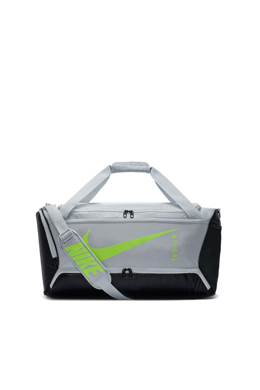 NIKE - Unisex τσάντα NIKE BRSLA -9.0 MTRL SP20 DUFFEL γκρι γυναικεία αξεσουάρ τσάντες σακίδια αθλητικές