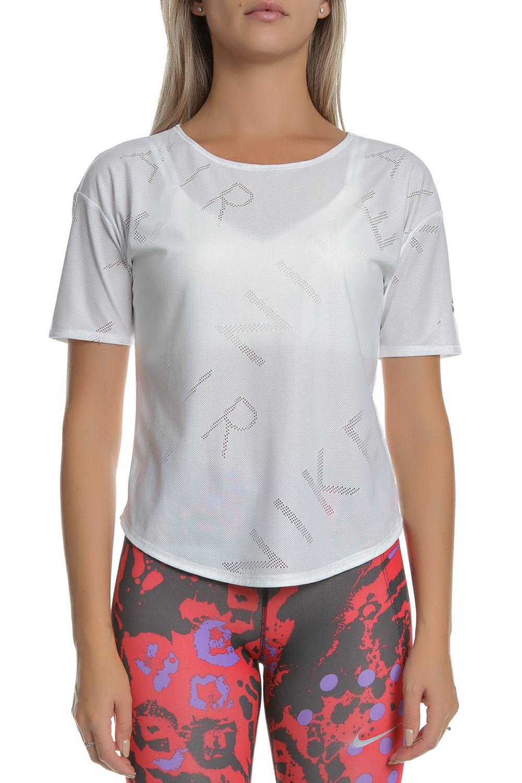 NIKE - Γυναικεία κοντομάνικη μπλούζα για τρέξιμο Nike Air άσπρη