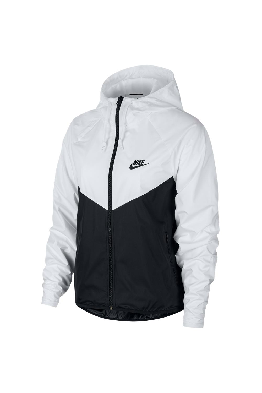 NIKE - Γυναικείο αθλητικό jacket NIKE NSW WR JKT μαύρο λευκό