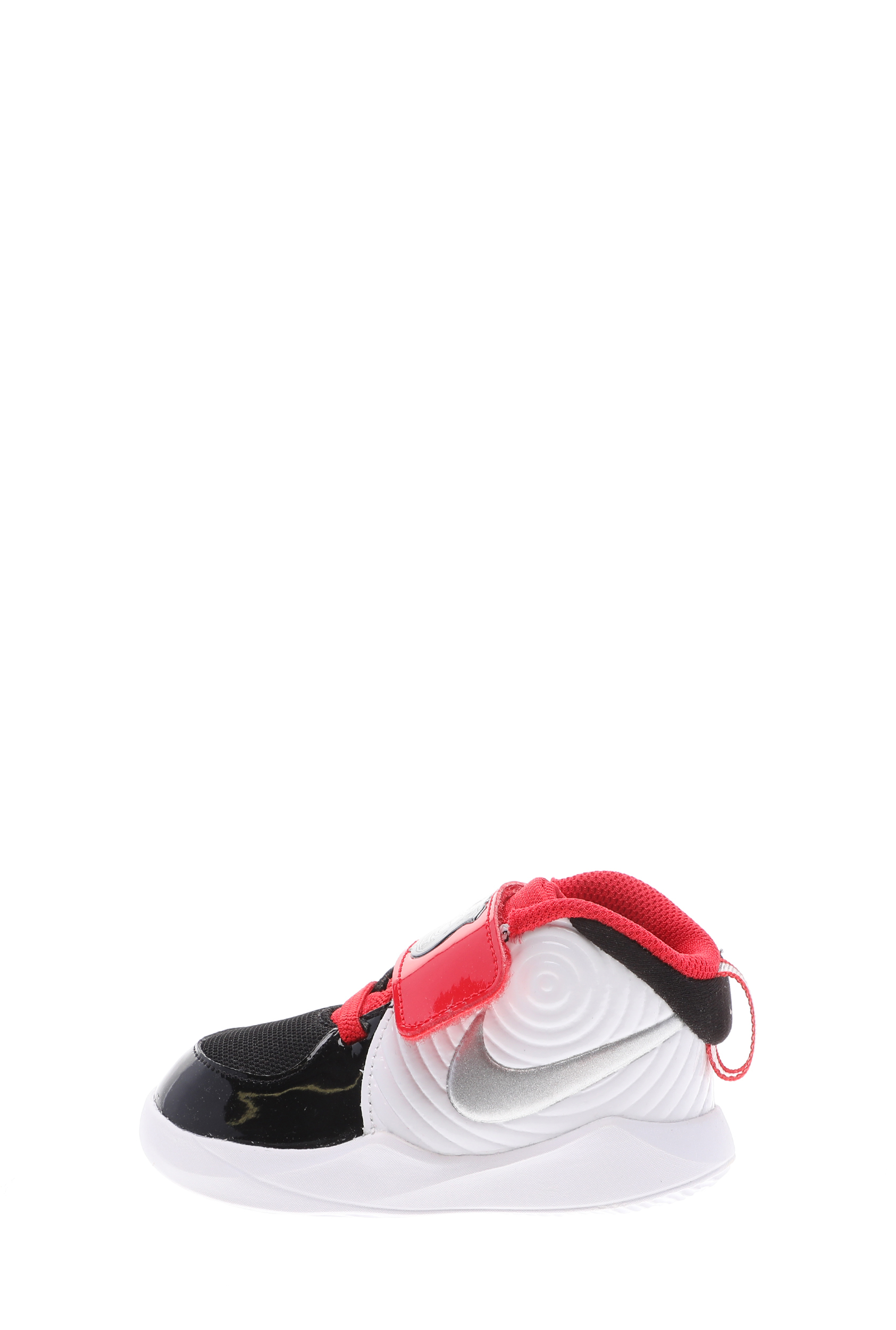 NIKE – Βρεφικά αθλητικά παπούτσια NIKE TEAM HUSTLE D 9 (TD) AUTO λευκά μαύρα