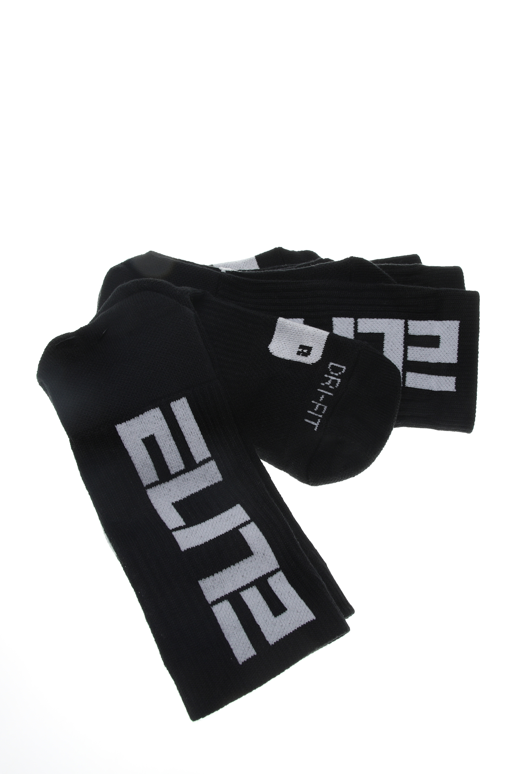 NIKE - Unisex κάλτσες σετ των 3 NIKE ELITE CREW μαύρες