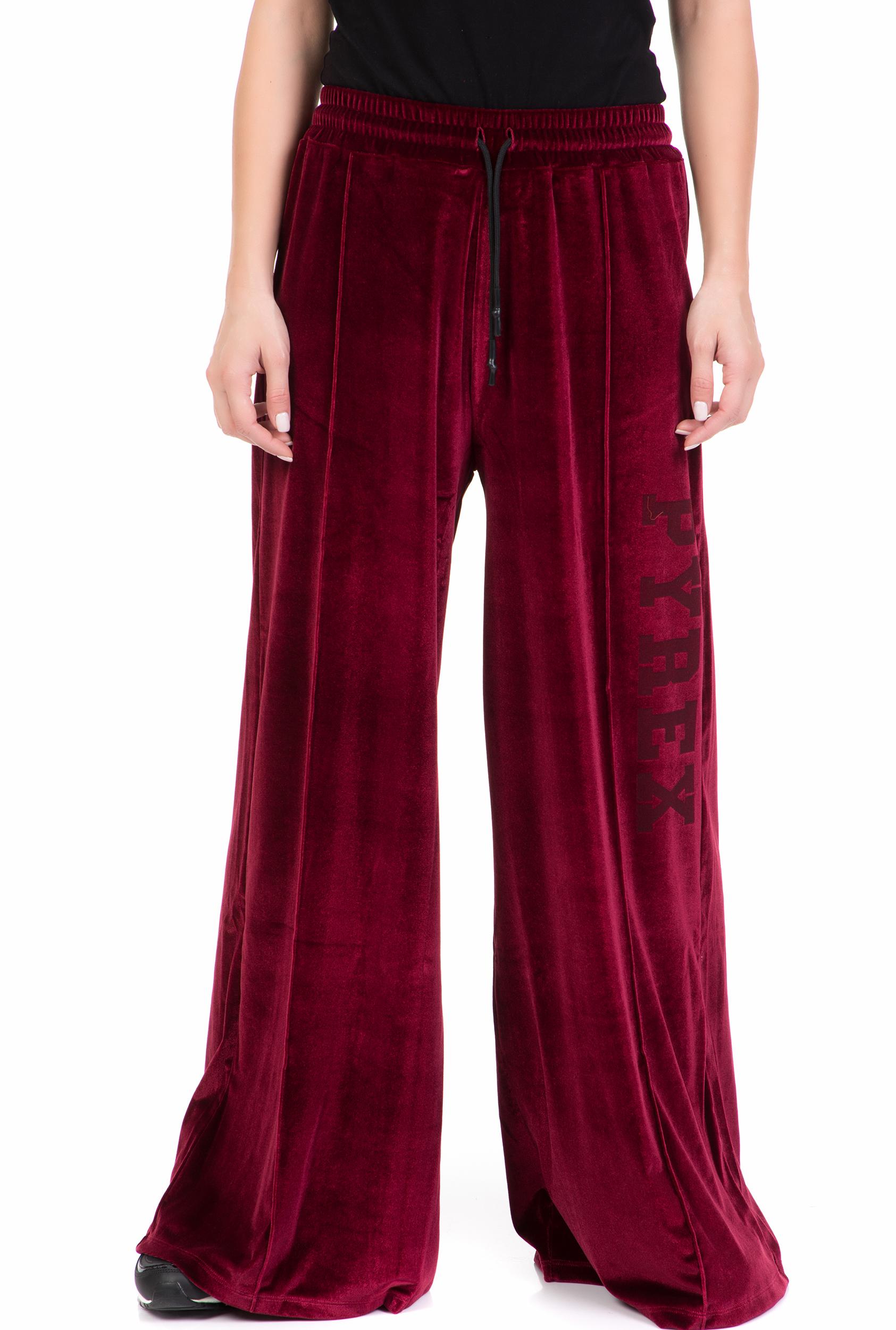 PYREX - Γυναικείο παντελόνι PYREX μπορντό