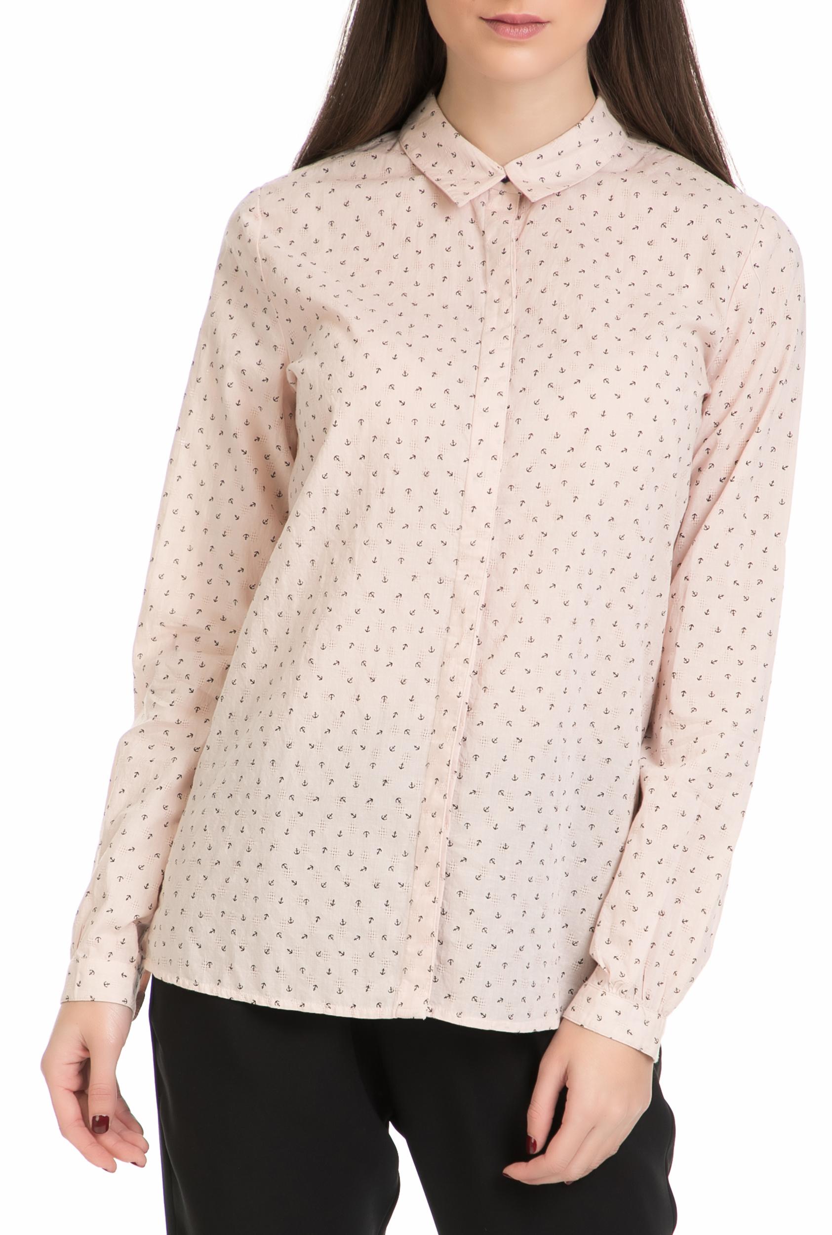 SCOTCH & SODA - Γυναικείο πουκάμισο MAISON SCOTCH ροζ γυναικεία ρούχα πουκάμισα μακρυμάνικα
