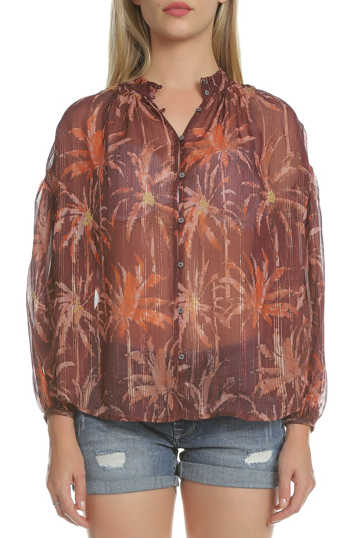 SCOTCH & SODA - Γυναικείο πουκάμισο SCOTCH & SODA καφέ