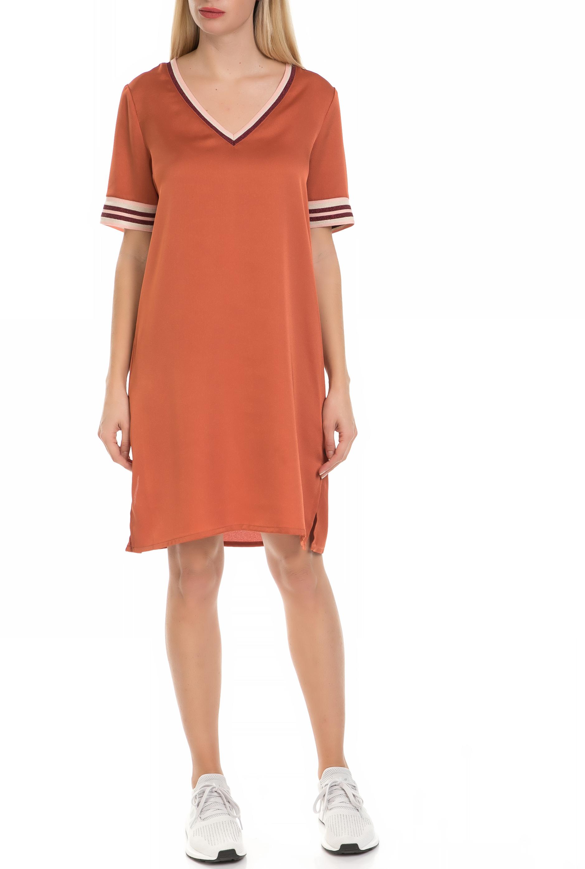SCOTCH & SODA - Γυναικείό φόρεμα SCOTCH & SODA πορτοκαλί γυναικεία ρούχα φόρεματα μίνι