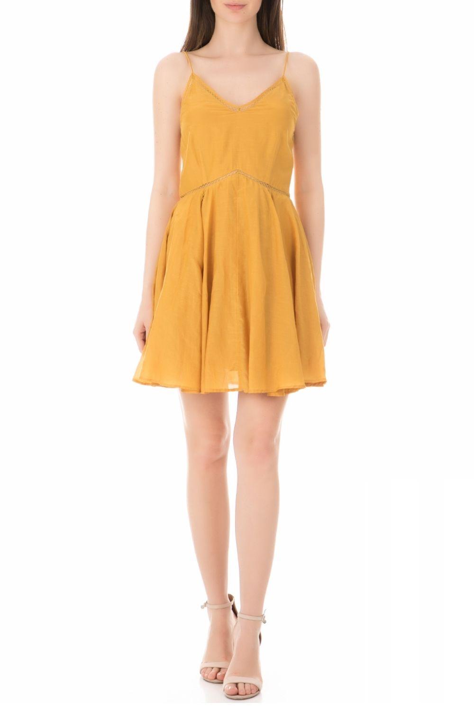 SCOTCH & SODA - Γυναικείο μίνι φόρεμα SCOTCH & SODA κίτρινο γυναικεία ρούχα φόρεματα μίνι