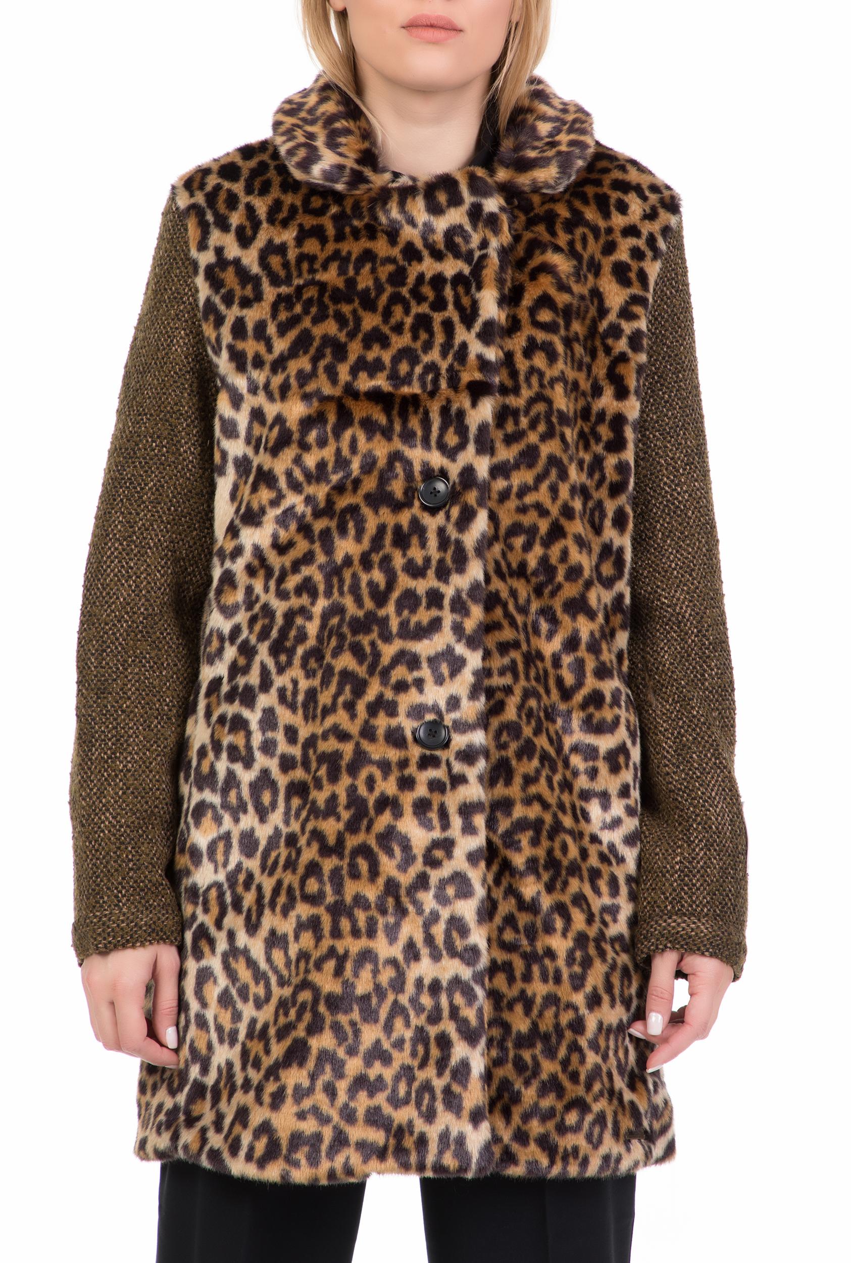 4c3782681eca SCOTCH   SODA - Γυναικείο γούνινο παλτό SCOTCH   SODA λεοπάρ