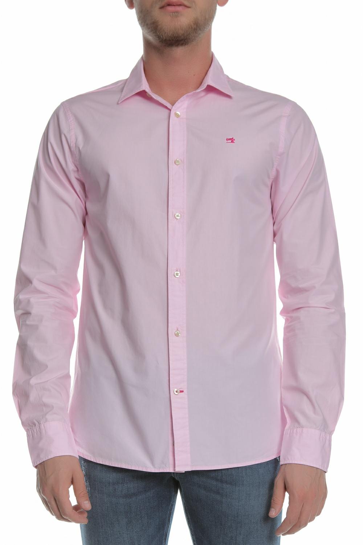 SCOTCH & SODA - Ανδρικό πουκάμισο SCOTCH & SODA ροζ ανδρικά ρούχα πουκάμισα μακρυμάνικα