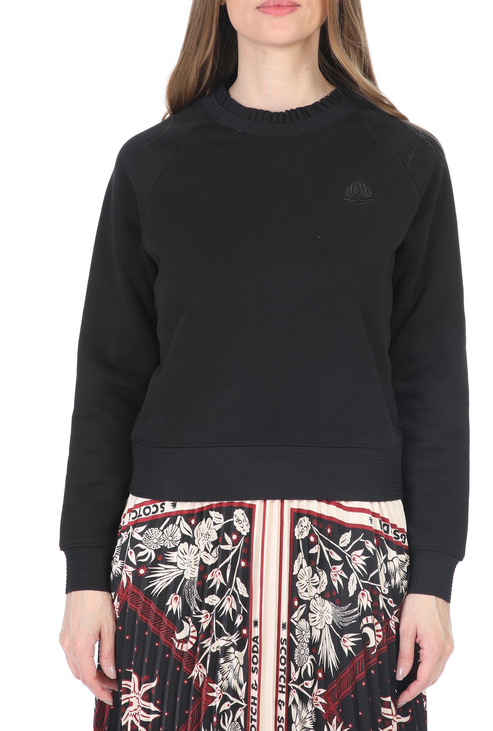 SCOTCH & SODA - Γυναικεία φουτερ μπλούζα SCOTCH & SODA Crewneck μαύρη