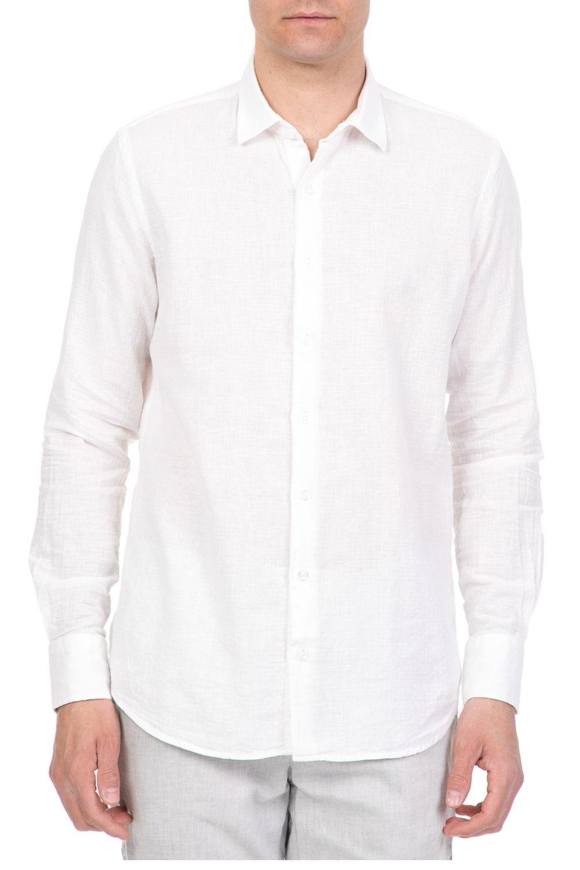 SSEINSE - Ανδρικό πουκάμισο SSEINSE λευκό ανδρικά ρούχα πουκάμισα μακρυμάνικα