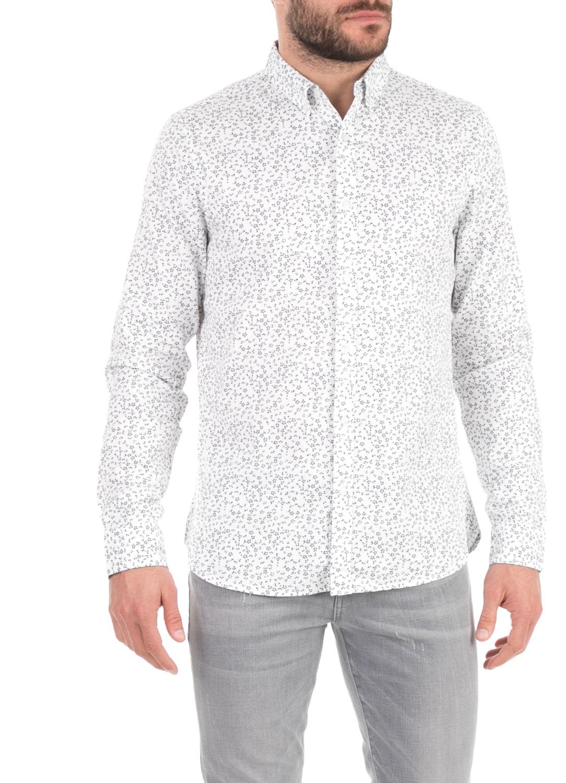 SUPERDRY - Ανδρικό πουκάμισο SUPERDRY λευκό ανδρικά ρούχα πουκάμισα μακρυμάνικα