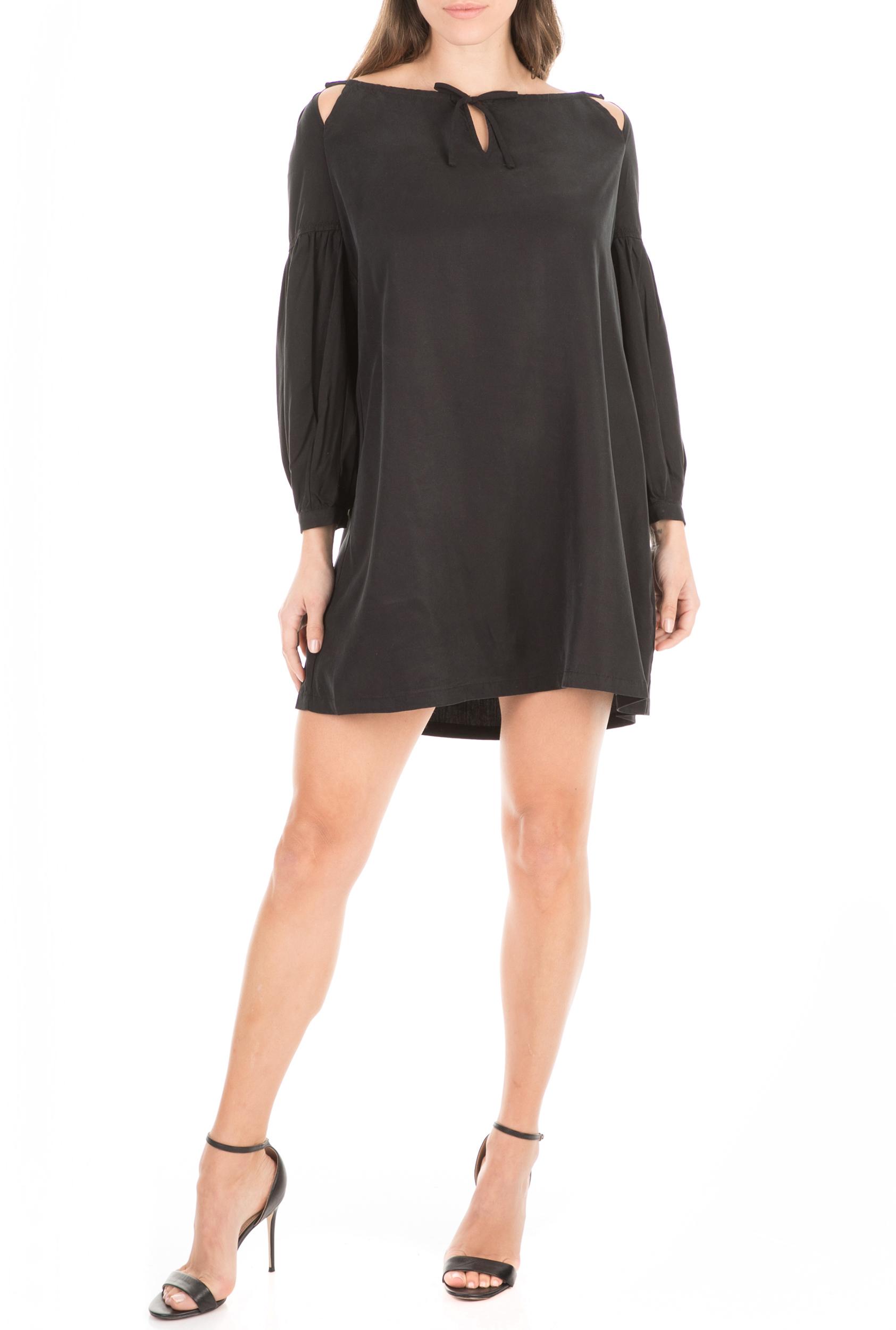SUPERDRY - Γυναικείο mini φόρεμα SUPERDRY ARIZONA μαύρο γυναικεία ρούχα φόρεματα μίνι