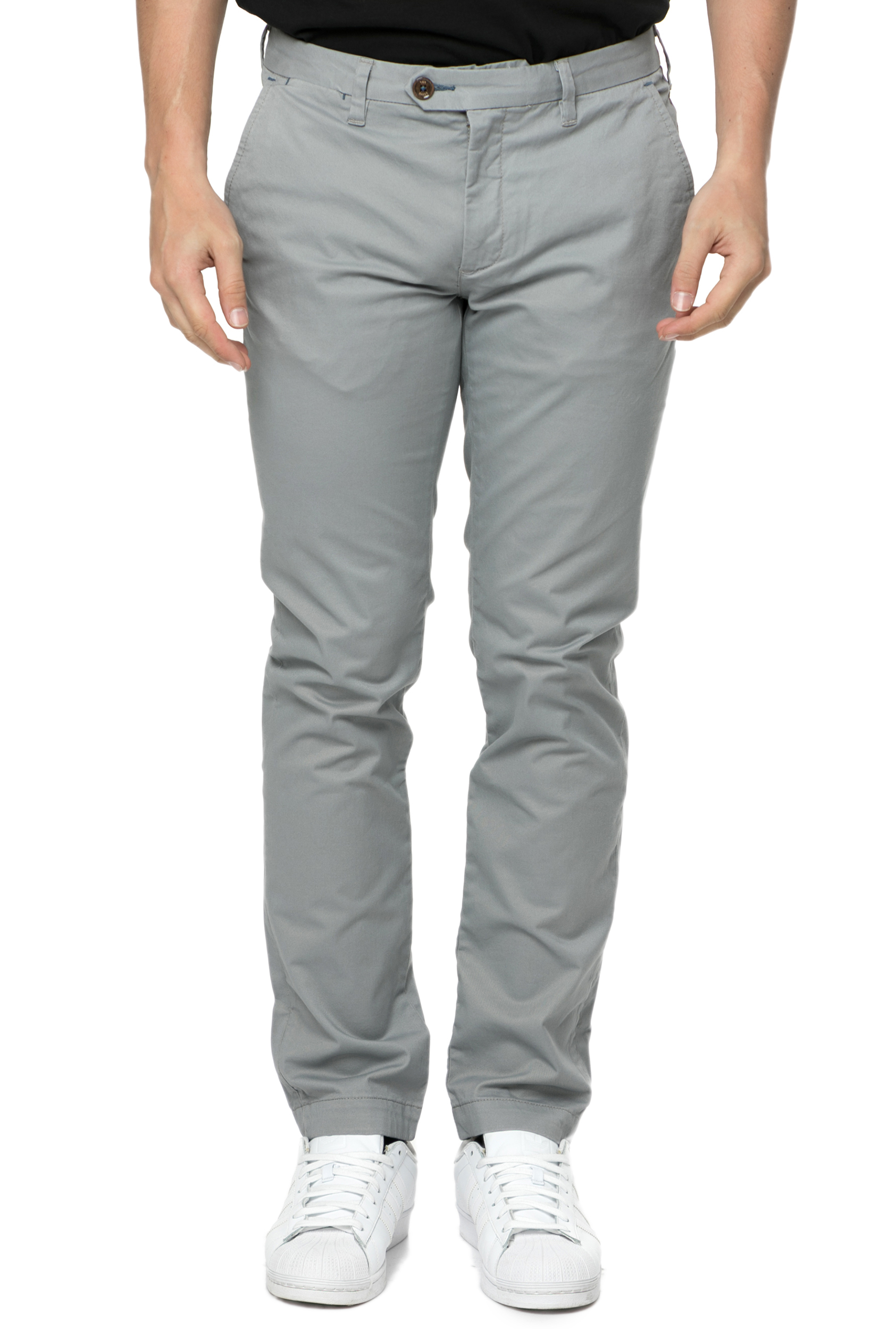TED BAKER - Ανδρικό Chino Παντελόνι Ted Baker PROCOR SLIM FIT Γκρι