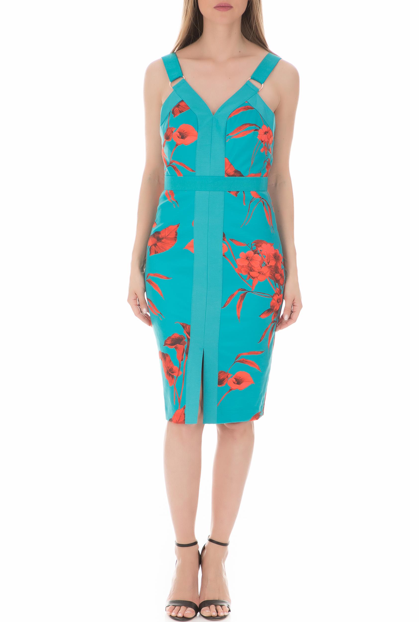 29fbc7413d60 TED BAKER - Γυναικείο φόρεμα JORDJA FANTASIA PANEL BODYCON TED BAKER μπλε