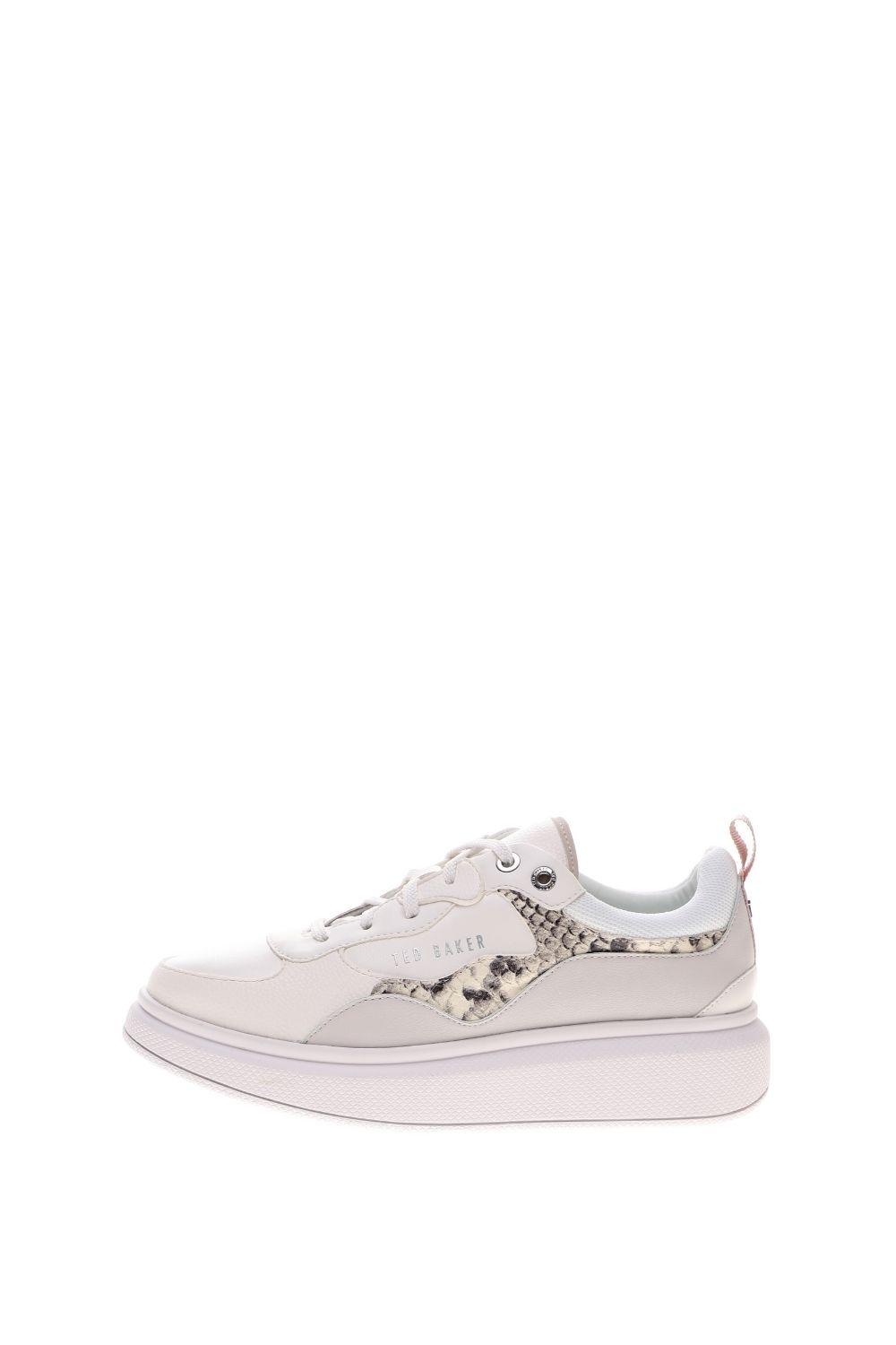 TED BAKER – Γυναικεία sneakers TED BAKER ARELLIS EXOTIC TRIM TRAINER λευκά