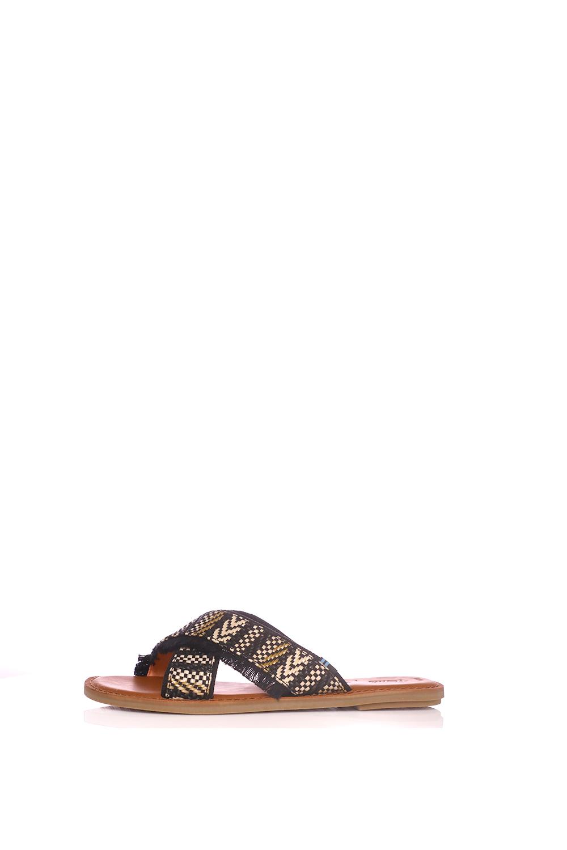 8968a7e0c6c Collective Online TOMS – Γυναικεία σανδάλια Toms GEOMETRIC WOVEN μαύρα-μπεζ