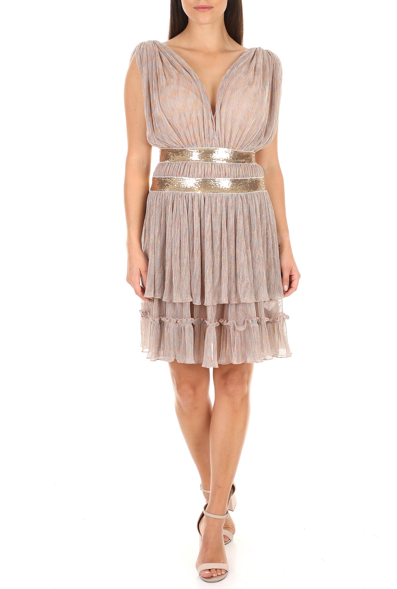TRAFFIC PEOPLE - Γυναικείο mini φόρεμα TRAFFIC PEOPLE Stay Gold ροζ γυναικεία ρούχα φόρεματα μίνι