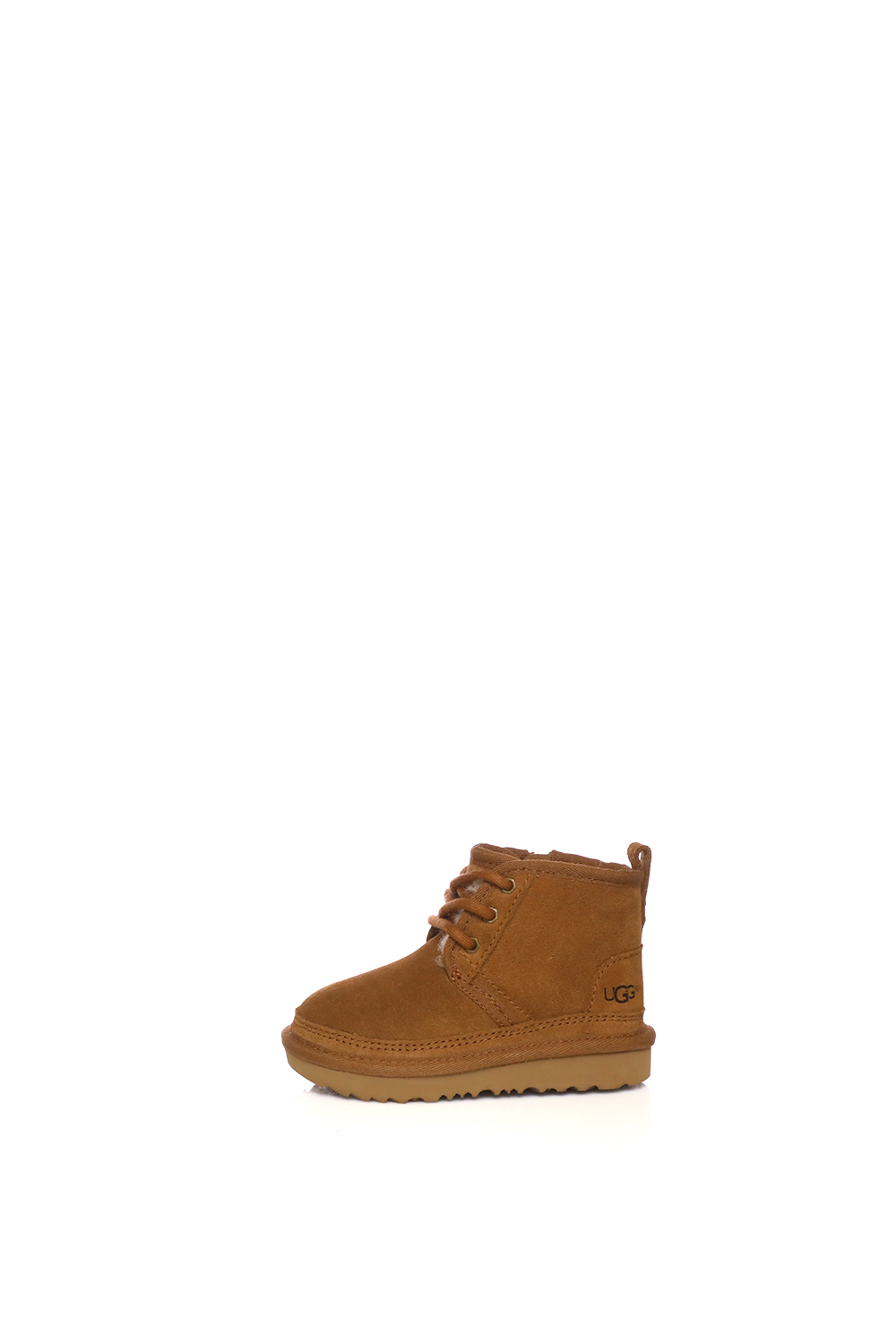 6a158232e86 UGG - Παιδικά δερμάτινα μποτάκια NEUMEL II καφέ - Roe Shoes Collection