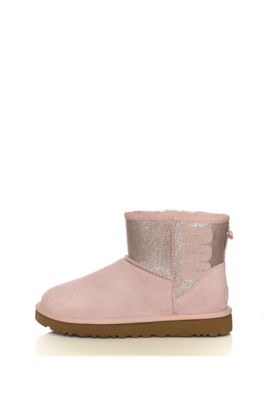 ed9e81c945f Collective Online UGG – Γυναικεία μποτάκια Classic Mini UGG Sparkle ροζ