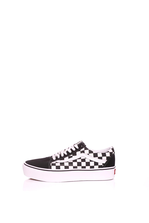 90fe16167d VANS - Unisex sneakers UA OLD SKOOL PLATFOR μαύρα-λευκά - Roe Shoes ...