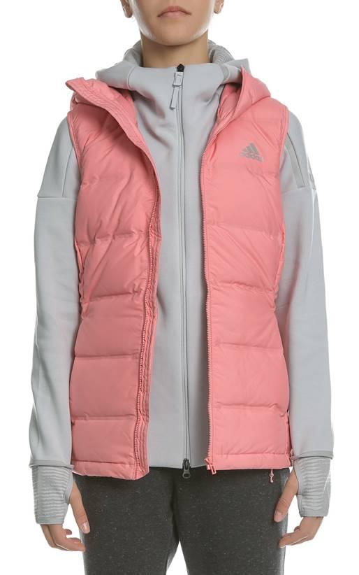 e7519e7eade1 adidas- Γυναικείο αμάνικο μπουφάν με κουκούλα W HELIONIC VEST ροζ ...