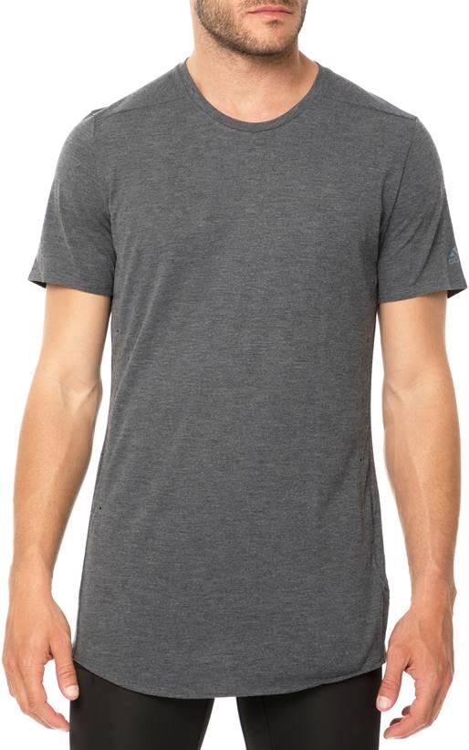24a2a72e886b adidas Performance-Ανδρική κοντομάνικη μπλούζα για τρέξιμο SUPERNOVA PURE  TEE ανθρακί