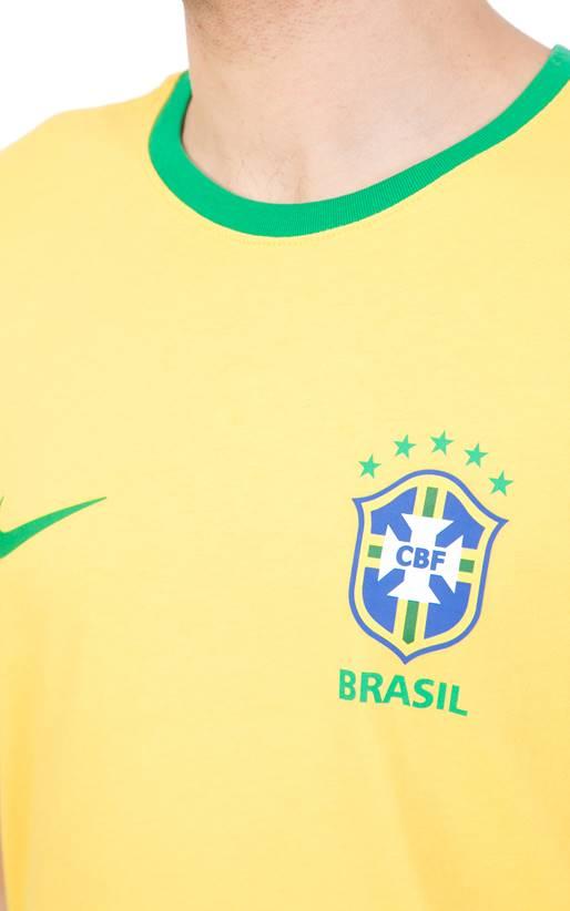 481876d86aa3 NIKE- Ανδρική κοντομάνικη μπλούζα NIKE BRASIL CREST κίτρινη (1624650 ...