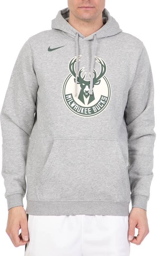 a0b969c3edbe NIKE- Ανδρική μπλούζα Nike NBA Milwaukee Bucks γκρι (1644346 ...